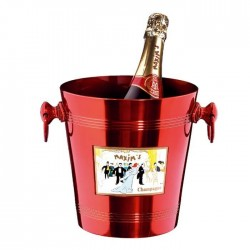 Champagne red ice bucket - Accessories - Maxims Shop