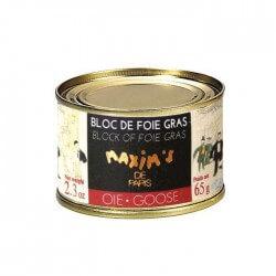 Bloc of goose foie gras round tin 65g - Savory - Maxim's shop