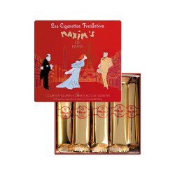 Red tin chocolate and hazelnuts cigarettes - New design