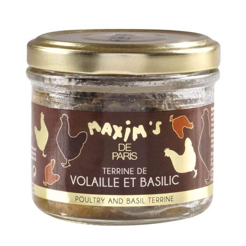 Poultry terrine with basil -Jar 90 g