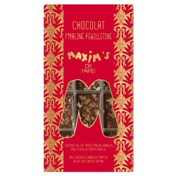 Crispy gianduja milk chocolate bar-chocolate bar-Maxim's de Paris