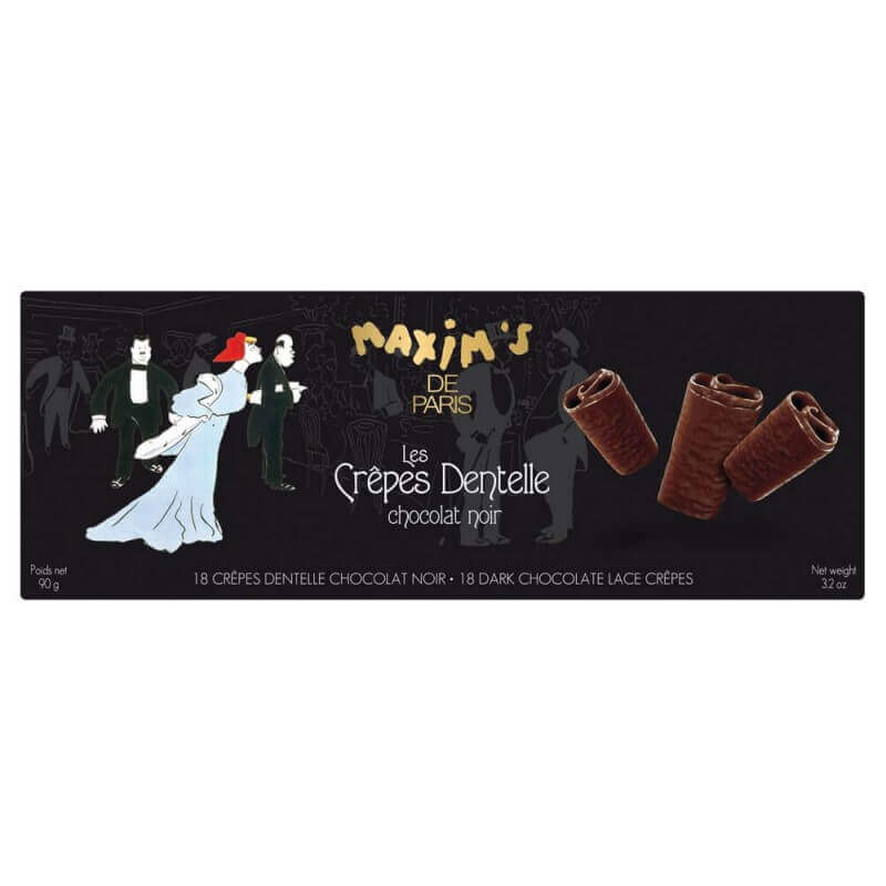 Etui 18 crêpes dentelle chocolat noir - Chocolats - Maxim's shop