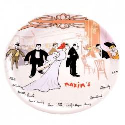 Plat à gâteau décor menu Maxim's