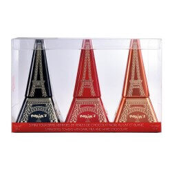 Gift-box 3 mini Eiffel Towers with chocolate pearls