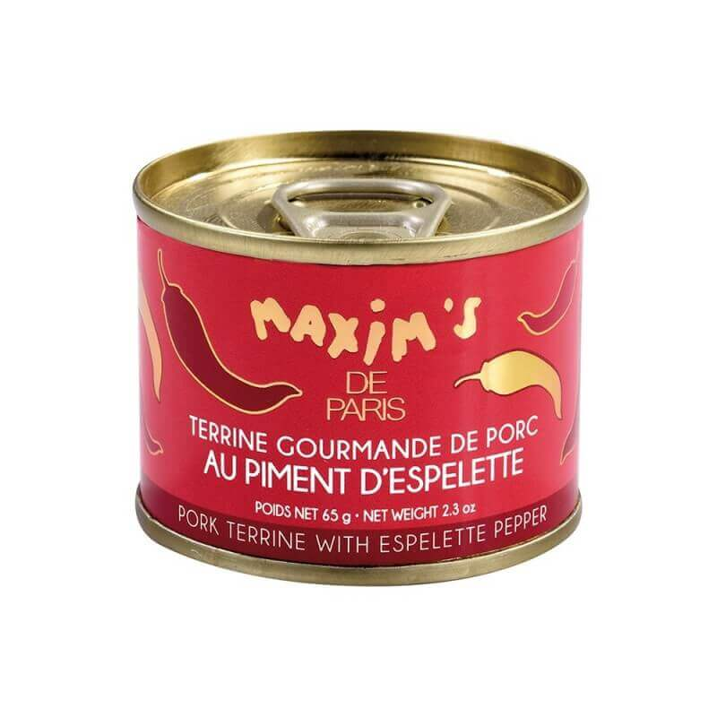 Pork terrine with Espelette pepper - Tin 65 g
