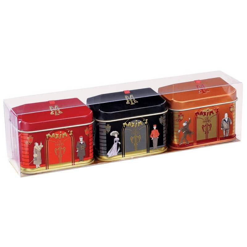 Gift-pack 3 mini-house tins 2 chocolates - Chocolate - Maxim's shop