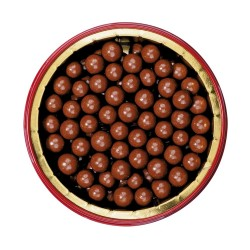 Round tin milk chocolate pearls