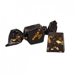 Dark chocolate nougat