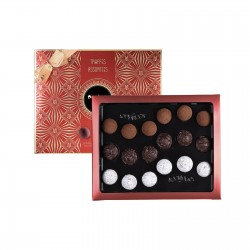 Cardbox of 18 assored truffles - Maxim's de Paris