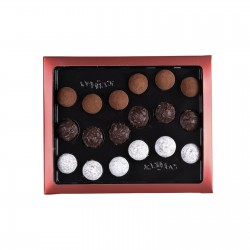 Cardbox of 18 assorted truffles