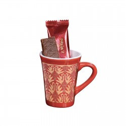 mug with lace crepe