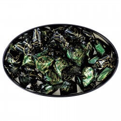 Black oval tin mint/choc. candies
