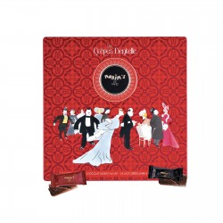 Tin of 24 assorted lace crepes