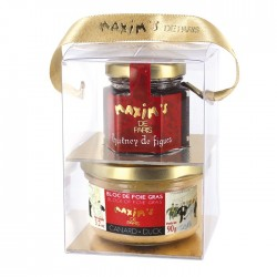 Gift-pack block of duck foie gras chutney  - Savoury - Maxim's Shop