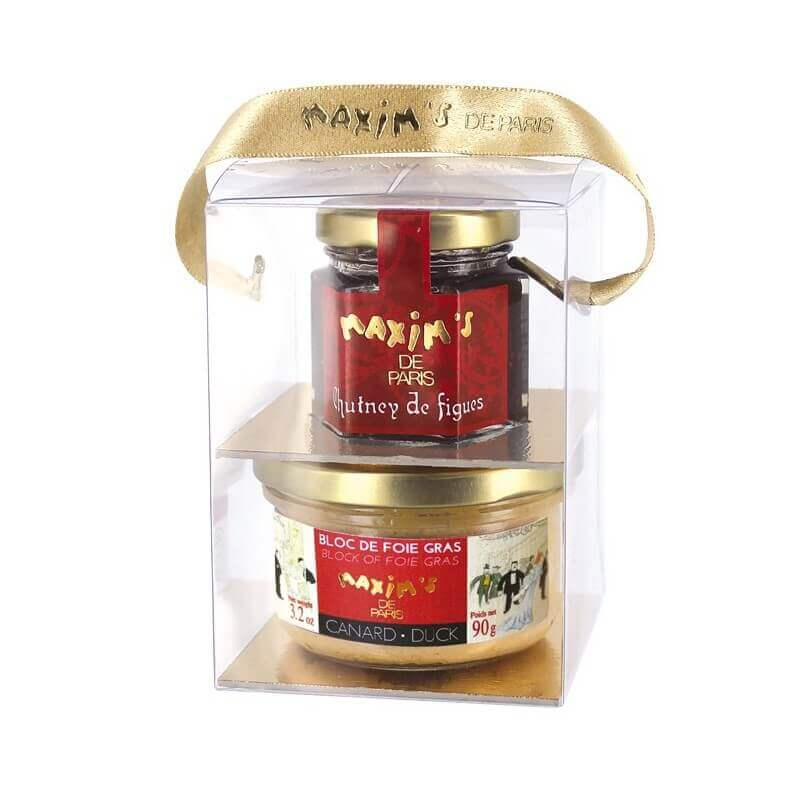 Gift-pack duck foie gras and chutney