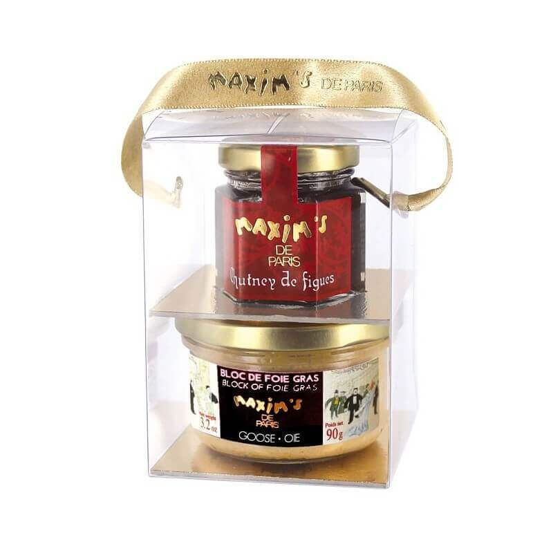 Gift pack block of goose foie gras and chutney - Grocery - Maxim's de Paris