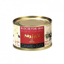 Bloc of duck foie gras - Round tin 65 g