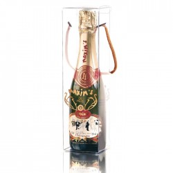 Half champagne bottle and gift-box