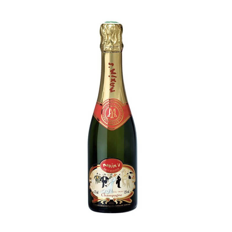 Half champagne bottle