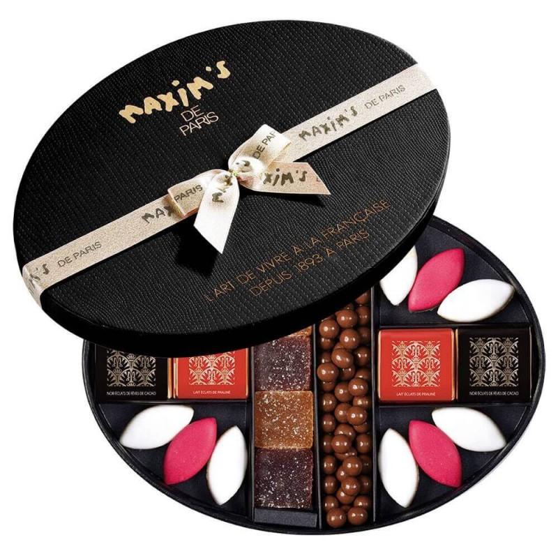 Hat-box of assorted Christmas chocolates