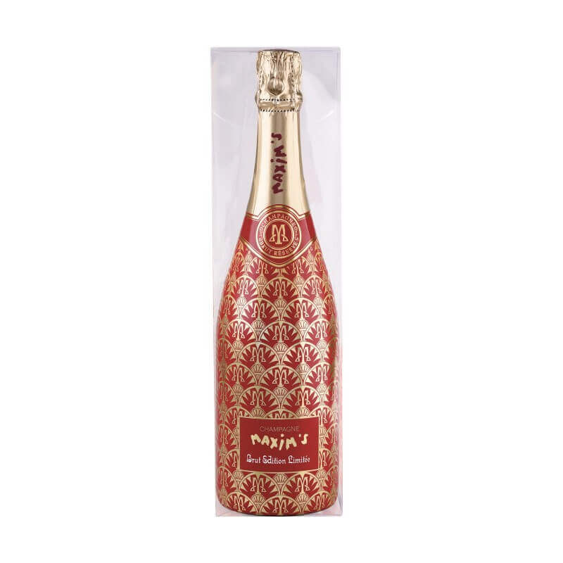 """Champagne Brut """"Belle Epoque"""" with red bow tie +cardbox"""