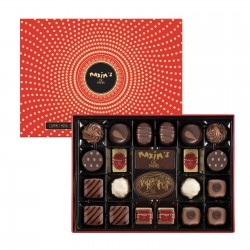 Red tin of 22 Assorted chocolates - Chocolate assortment - Maxim's shop