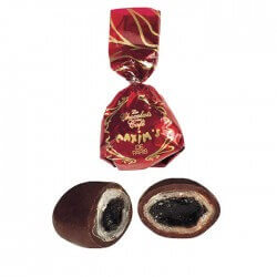 Red oval tin coffee/choc. candies