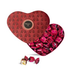 Red Heart Tin - Milk chocolates & nougat
