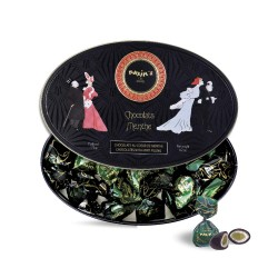 Black oval tin mint/choc....