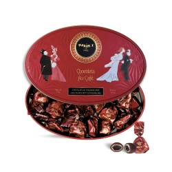 Red oval tin coffee/choc....