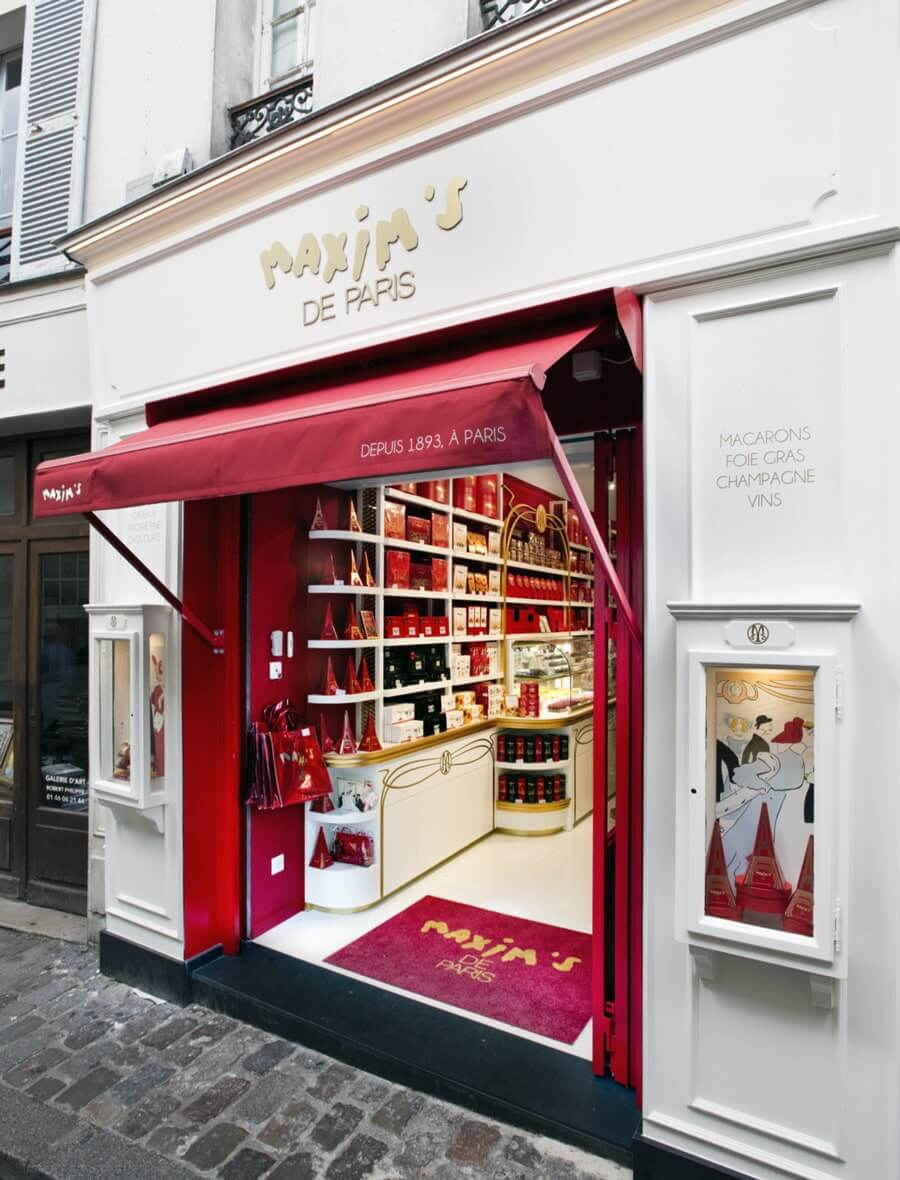 La boutique Maxim's - Chocolats et Macarons à Montmartre