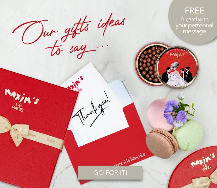Our gifts ideas to say thank you with Maxim's